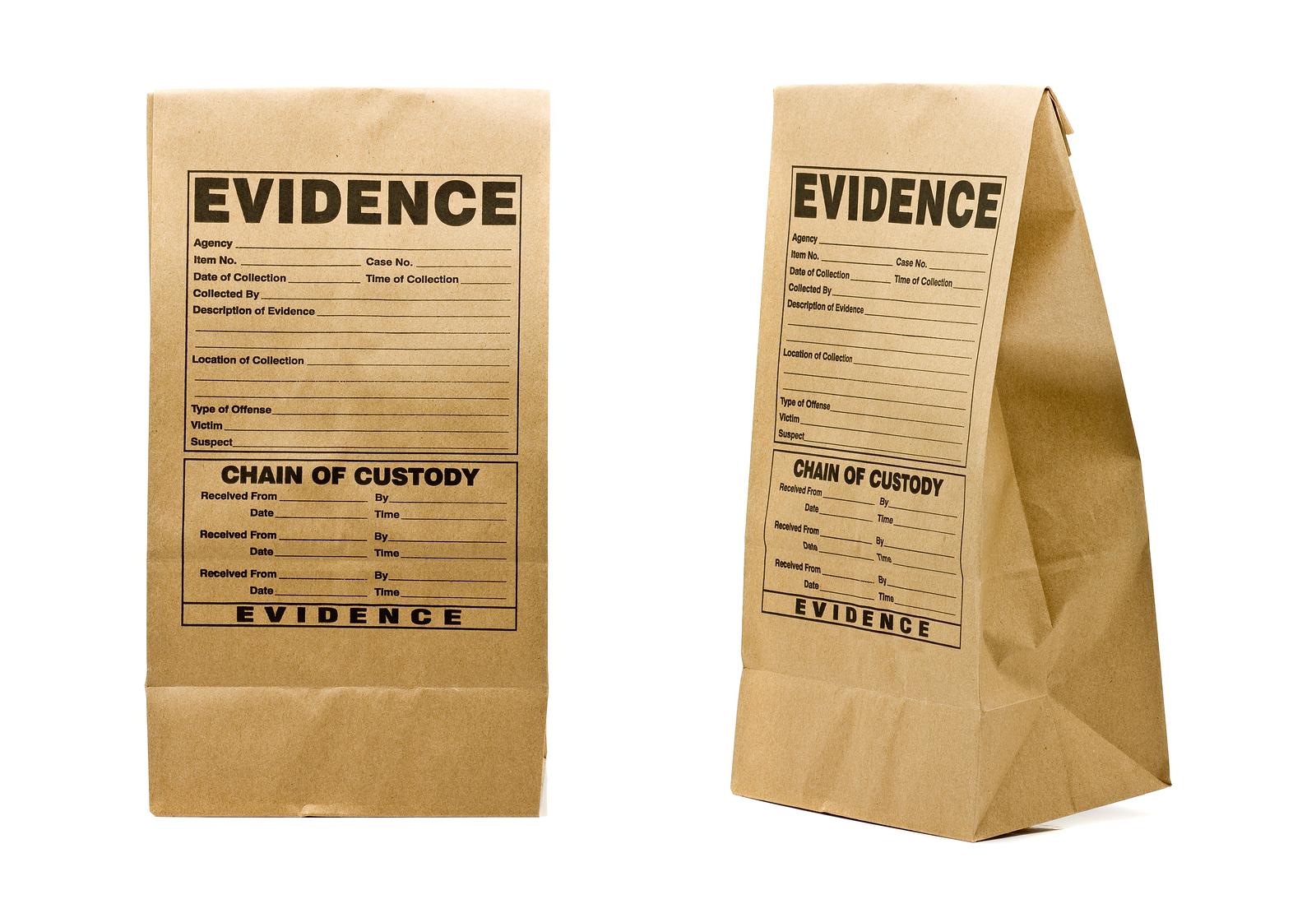 evidence bag investigation forensics